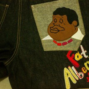 FUBU Platinum Fat Albert & Junkyard Gang Jeans Vtg